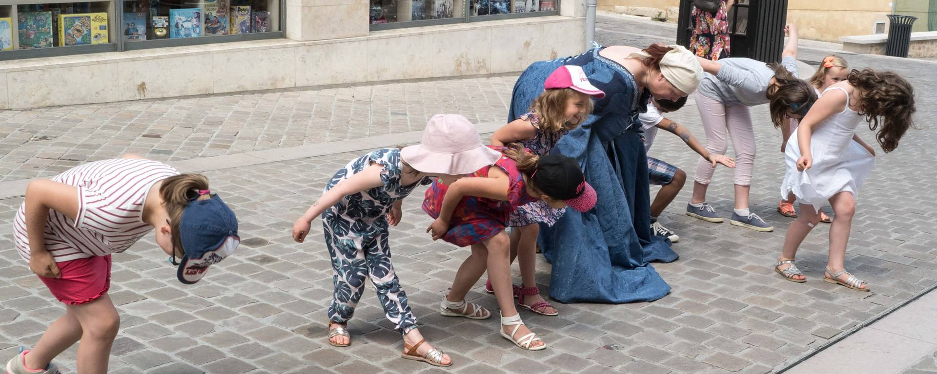 Children during a guided tour
