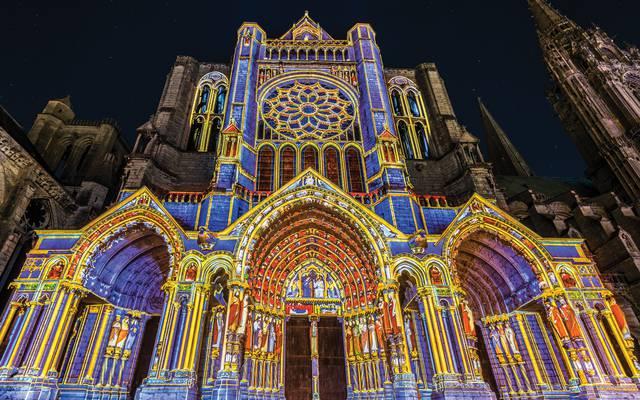 Scénographie du portail Nord de la cathédrale de Chartres