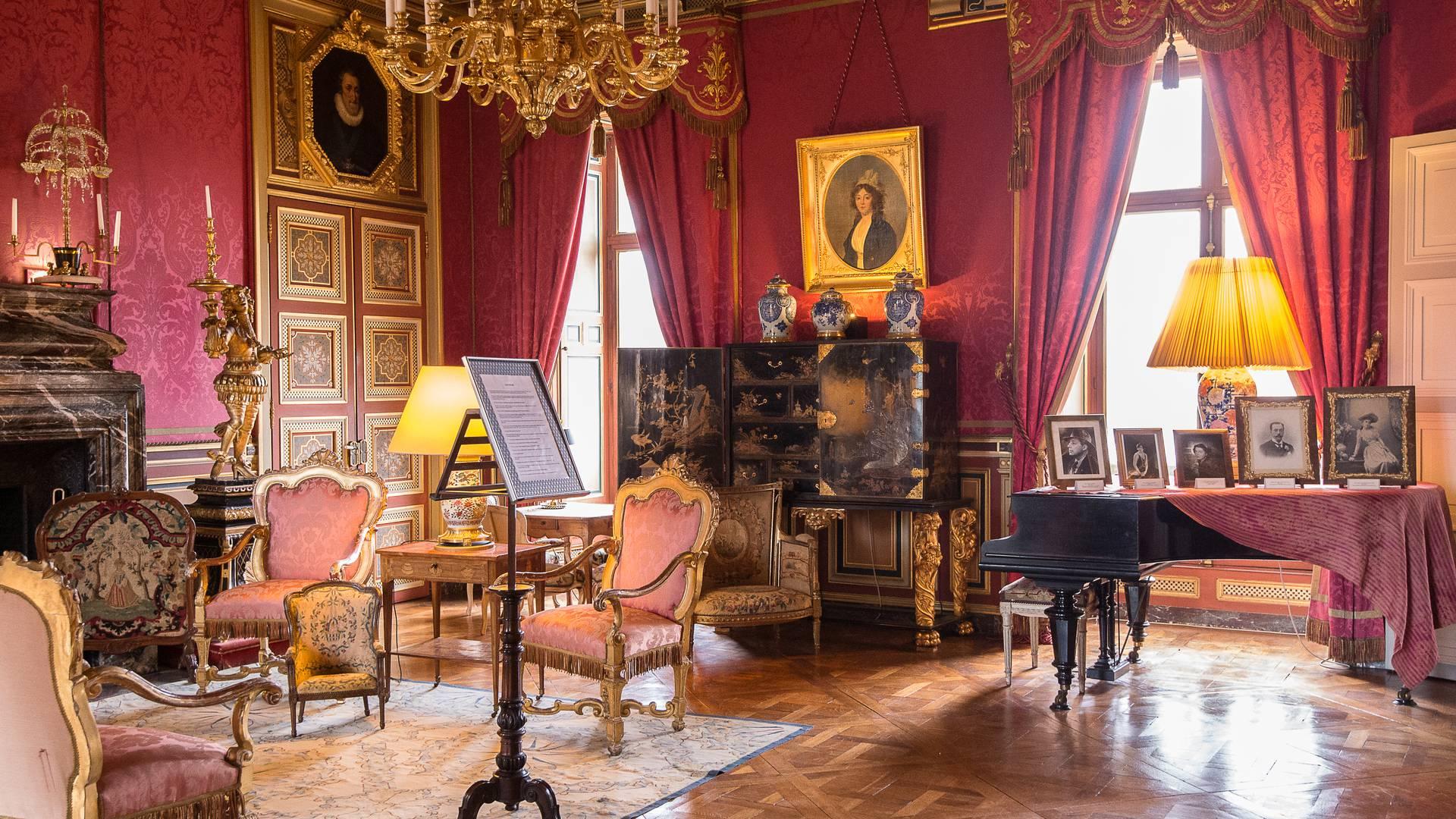 Salon dans le château de Maintenon