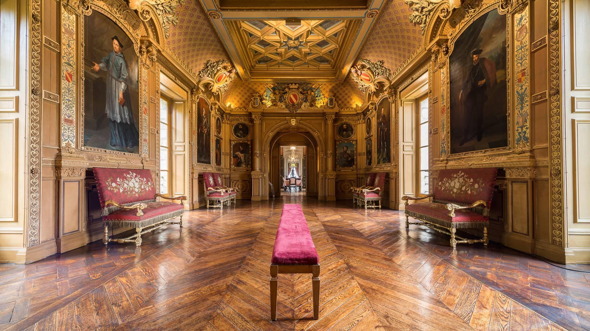 Galerie dans le château de Maintenon