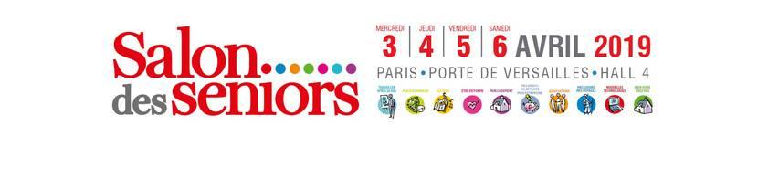 Bannière du salon des seniors à Paris